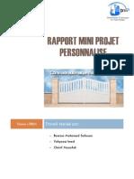 Rapport Mini Projet Personnalisé