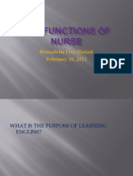 The Functions of Nurse