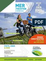 folder Zomerzoektochten in de Vlaamse Ardennen