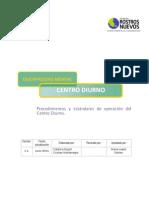 Fundacion Rostros Nuevos_Discapacida Mental, Centro Diurno; Procedimientos y Estandares de Operacion