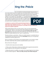 Writing the Prcis(1)