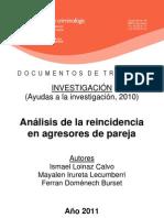 Gobierno Cataluña_Analisis de la reincidencia en agresores de pareja