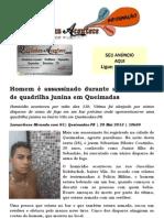 Homem é assassinado durante apresentação de quadrilha junina em Queimadas