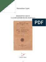 Massimiliano Capati BENEDETTO CROCE E LE METAMORFOSI DEL BAROCCO