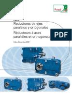 Catalog Reductores de Ejes Paralelos y Ortogonales H02 Edition December 2010 Es-fr