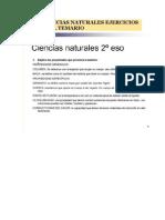 2º ESO CIENCIAS NATURALES EJERCICIOS DE TODO EL TEMARIO