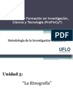 Diapositivas 5. Profincyt - Métodología Cualitativa
