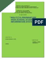 MSU-TCTO PREPARATORY HIGH SCHOOL STUDENT INFORMATION SYSTEM