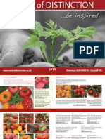 Seeds of Distinction - Vegetable Selection 2013