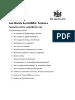 Accreditation Schemes Guidance