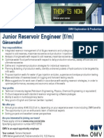 Junior Reservoir Engineer EP99 Ku 1911