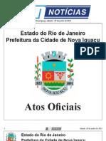 diario oficial de nova iguaçu . 29 de junho de 2013
