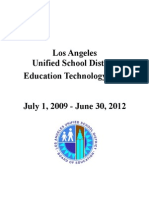LAUSD District Documents - Education Technology Plan - 2009-2012