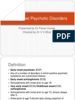 Early Onset Psychotic Disorders