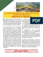 Comunicados de Apoyo Pereira y Manizales