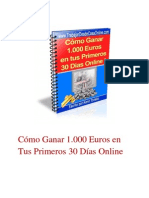 1000 Euros en 30 Dias
