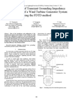 Verifications of Transient Grounding Impedance Measurements of a Wind Turbine Generator System Using the FDTD method