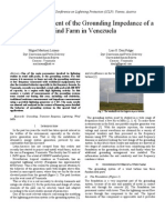 Field Measurement of the Grounding Impedance of a Wind Farm in Venezuela