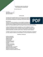 Plan Operativo Anual Del Colegio Cipe 2012 Ejemplo