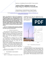 Statistical Analysis of Winter Lightning Current and Measurement of Step Voltage in a Wind Power Generation Site