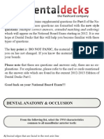 Dental Decks Part 1 2012 13