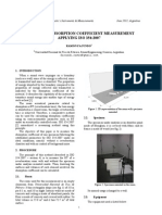 Statistical Absorption Coefficient Measurement Applying ISO 354:2007