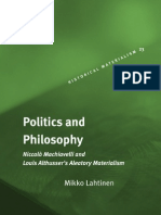 Althusser Lahtinen-politics and Philosophy Niccolo Copy