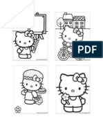 Coloring Worksheet -Hello Kitty Theme