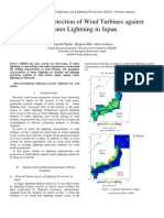 Lightning Protection of Wind Turbines against Winter Lightning in Japan