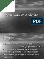 Anestesia em Urgência