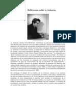 Reflexiones Sobre La Violencia, H Arendt