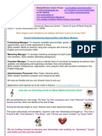 Music Matters |nclusive Choir - Newsletter July 2013