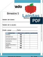 5to Grado - Bimestre 5 (2012-2013)