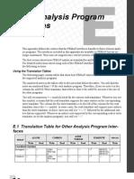 Other Analysis Program Interfaces