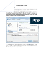 Formas de Guardar en Word