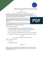 Estatuto Centro de Alumnos de Derecho Universidad San Sebastián Sede Santiago PDF
