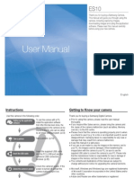 Samsung Camera ES10 User Manual