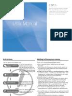 Samsung Camera ES15 User Manual
