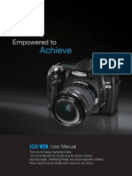 Samsung DSLR GX-10 User Manual