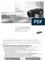 Samsung Camcorder H100N User Manual