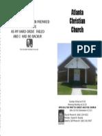 June 9, 2013 Church Bulletin