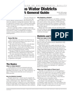 Texas Water Districts a General Guide