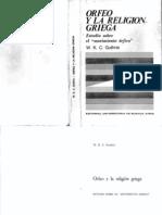 Guthrie W. - Orfeo y La Religion Griega