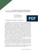 Fernández Jaén - Problemas origen lenguaje cognitivismo