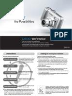 Samsung Camera S1030 User Manual