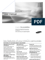 Samsung Camcorder SC-D381 User Manual