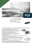 Samsung Camcorder SC-MX20 User Manual