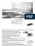 Samsung Camcorder SC-MX20 User Manual