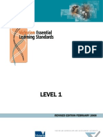 Victorian Essential Learning Standards Level 1