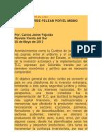 Santos y Uribe Pelean Por El Mismo Plato